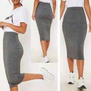 Leith Nordstrom Gray Tight Body Con Pencil Skirt